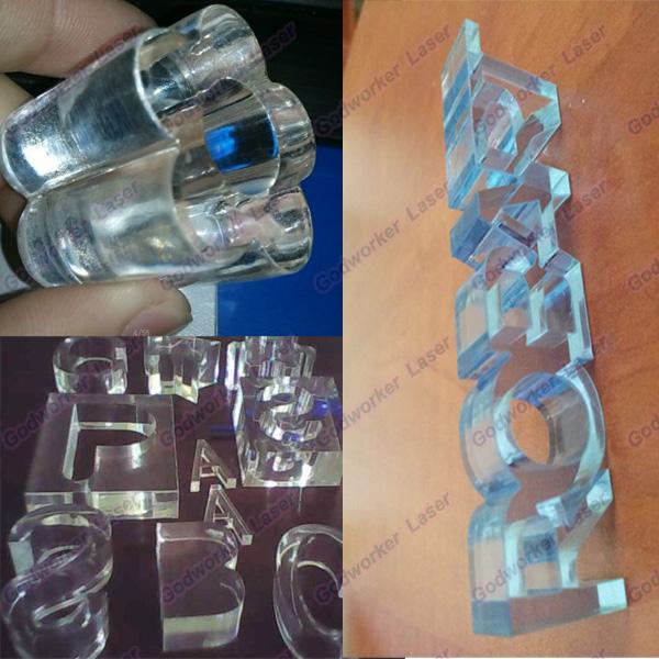 30mm acrylic sample via co2 150w laser cut