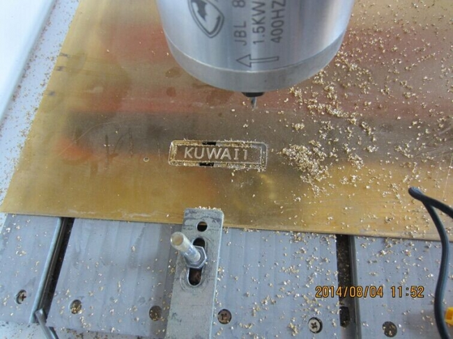 cnc router engrave and cut brass copper