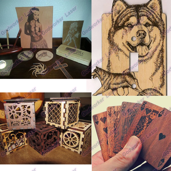 laser cut and engrave wood art