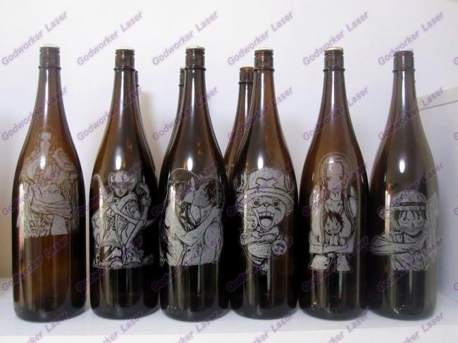 laser engraving glass wine bottle