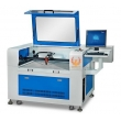 GW6040/6090 jeans/cloth lable laser cuting machine with CCD Camera;CCD Laser Cutting Machine