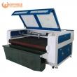 GW-1610 textile fabric cloth auto feeding laser cutting machine with conveyor & vacuum table