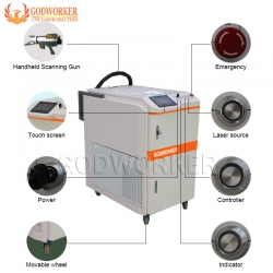 Fiber Laser Cleaning Machine for Metal Surface Rust Removal,metal surface rust removal laser cleaning machine